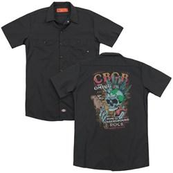 Cbgb - Mens City Mowhawk (Back Print) Work Shirt