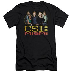 Csi Miami - Mens The Cast In Black Premium Slim Fit T-Shirt