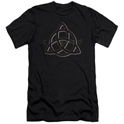 Charmed - Mens Triple Linked Logo Premium Slim Fit T-Shirt