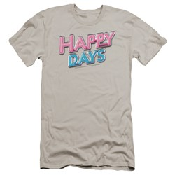 Happy Days - Mens Happy Days Logo Premium Slim Fit T-Shirt