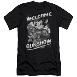 Mighty Mouse - Mens Mighty Gunshow Premium Slim Fit T-Shirt