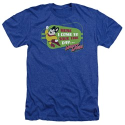 Mighty Mouse - Mens Here I Come Heather T-Shirt