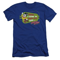 Mighty Mouse - Mens Here I Come Premium Slim Fit T-Shirt