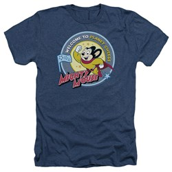 Mighty Mouse - Mens Planet Cheese Heather T-Shirt
