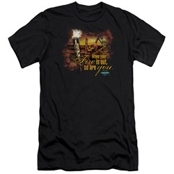 Survivor - Mens Fires Out Premium Slim Fit T-Shirt