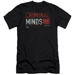 Criminal Minds - Mens Title Card Premium Slim Fit T-Shirt
