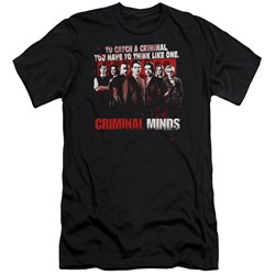 Criminal Minds - Mens Think Like One Premium Slim Fit T-Shirt