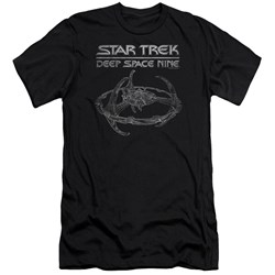 Star Trek - Mens Ds9 Station Premium Slim Fit T-Shirt