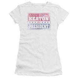 Family Ties - Juniors Alex For President Premium Bella T-Shirt