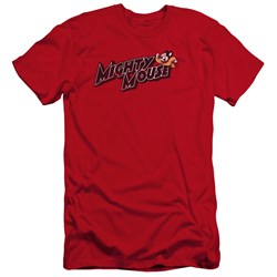 Mighty Mouse - Mens Might Logo Premium Slim Fit T-Shirt