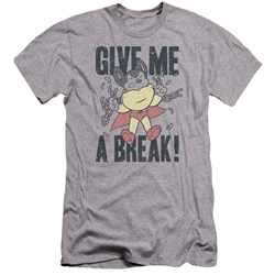 Mighty Mouse - Mens Give Me A Break Premium Slim Fit T-Shirt