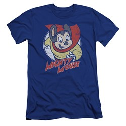 Mighty Mouse - Mens Mighty Circle Premium Slim Fit T-Shirt