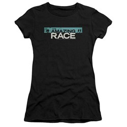 Amazing Race - Juniors Bar Logo Premium Bella T-Shirt