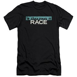 Amazing Race - Mens Bar Logo Premium Slim Fit T-Shirt