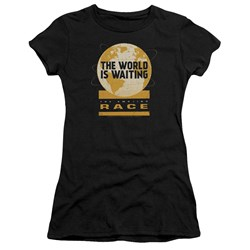 Amazing Race - Juniors Waiting World Premium Bella T-Shirt