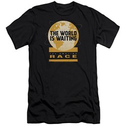 Amazing Race - Mens Waiting World Premium Slim Fit T-Shirt