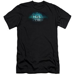 Csi: Cyber - Mens Thumb Print Premium Slim Fit T-Shirt