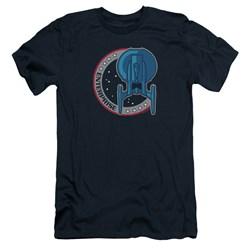 Star Trek - Mens Enterprise Patch Premium Slim Fit T-Shirt