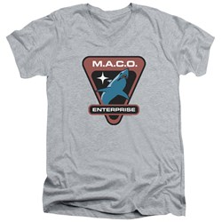 Star Trek - Mens Maco Patch V-Neck T-Shirt