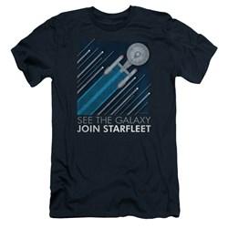Star Trek - Mens Starfleet Recruitment Poster Slim Fit T-Shirt