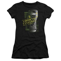 Csi - Juniors I Drank The Evidence Premium Bella T-Shirt