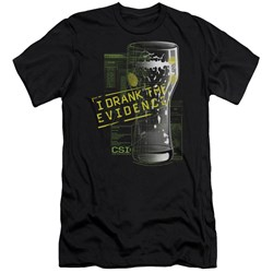 Csi - Mens I Drank The Evidence Premium Slim Fit T-Shirt