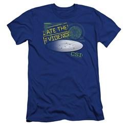 Csi - Mens I Ate The Evidence Premium Slim Fit T-Shirt