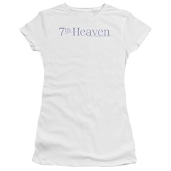 7Th Heaven - Juniors 7Th Heaven Logo Premium Bella T-Shirt