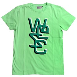 Summer Green Overlay 3D S/S Guys T-shirt in Summer Green by WeSC