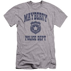 Andy Griffith Show - Mens Mayberry Police Premium Slim Fit T-Shirt