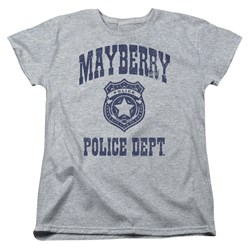 Andy Griffith Show - Womens Mayberry Police T-Shirt