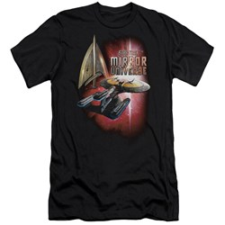 Star Trek - Mens Mirror Enterprise Slim Fit T-Shirt