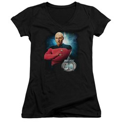Star Trek - Juniors Picard 30 V-Neck T-Shirt