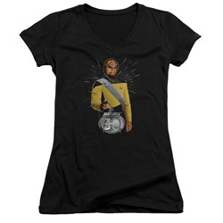 Star Trek - Juniors Worf 30 V-Neck T-Shirt