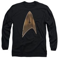 Star Trek Discovery - Mens Command Shield Long Sleeve T-Shirt
