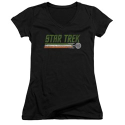 Star Trek - Juniors Irish Enterprise V-Neck T-Shirt