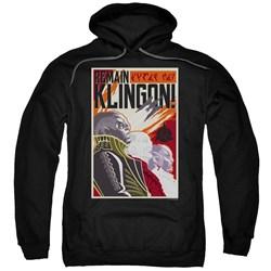Star Trek Discovery - Mens Remain Klingson Poster Pullover Hoodie