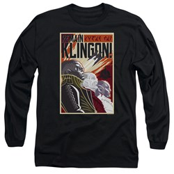 Star Trek Discovery - Mens Remain Klingson Poster Long Sleeve T-Shirt