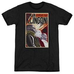 Star Trek Discovery - Mens Remain Klingson Poster Ringer T-Shirt