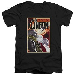 Star Trek Discovery - Mens Remain Klingson Poster V-Neck T-Shirt