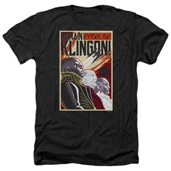 Star Trek Discovery - Mens Remain Klingson Poster Heather T-Shirt