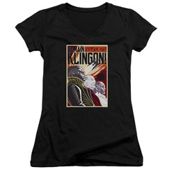 Star Trek Discovery - Juniors Remain Klingson Poster V-Neck T-Shirt