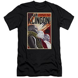 Star Trek Discovery - Mens Remain Klingson Poster Slim Fit T-Shirt
