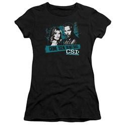 Csi - Juniors Cross The Line Premium Bella T-Shirt