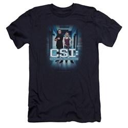 Csi - Mens Serious Business Premium Slim Fit T-Shirt