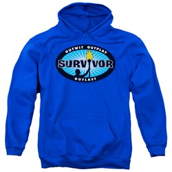 Survivor - Mens Blue Burst Pullover Hoodie