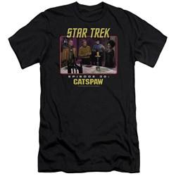 Star Trek Original - Mens Cats Paw Premium Slim Fit T-Shirt