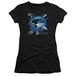 Star Trek - Juniors Starfleet Vessels Premium Bella T-Shirt