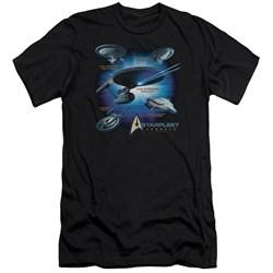 Star Trek - Mens Starfleet Vessels Premium Slim Fit T-Shirt
