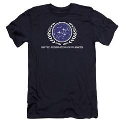 Star Trek - Mens United Federation Logo Premium Slim Fit T-Shirt